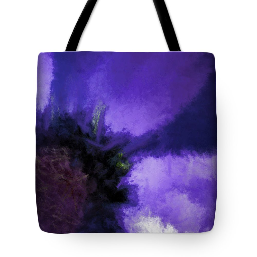 Flowers Tote Bag featuring the digital art Floral Impressions Lvi by Tina Baxter