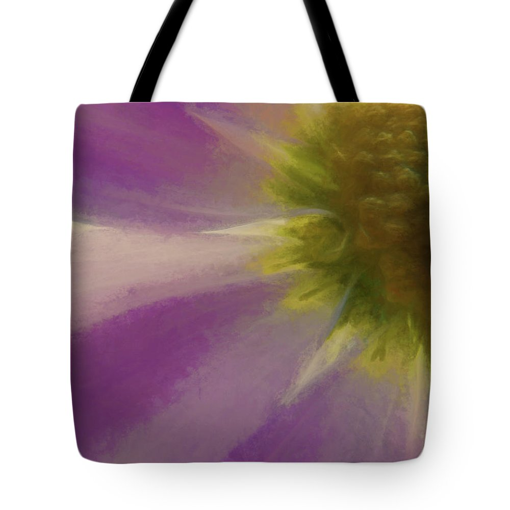 Flowers Tote Bag featuring the digital art Floral Impressions Lviii by Tina Baxter