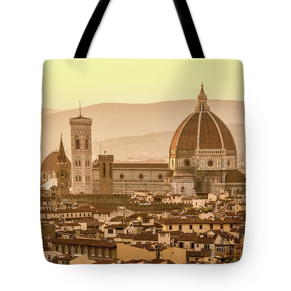 Florence Tote Bag featuring the photograph Florence Duomo by Delphimages Photo Creations