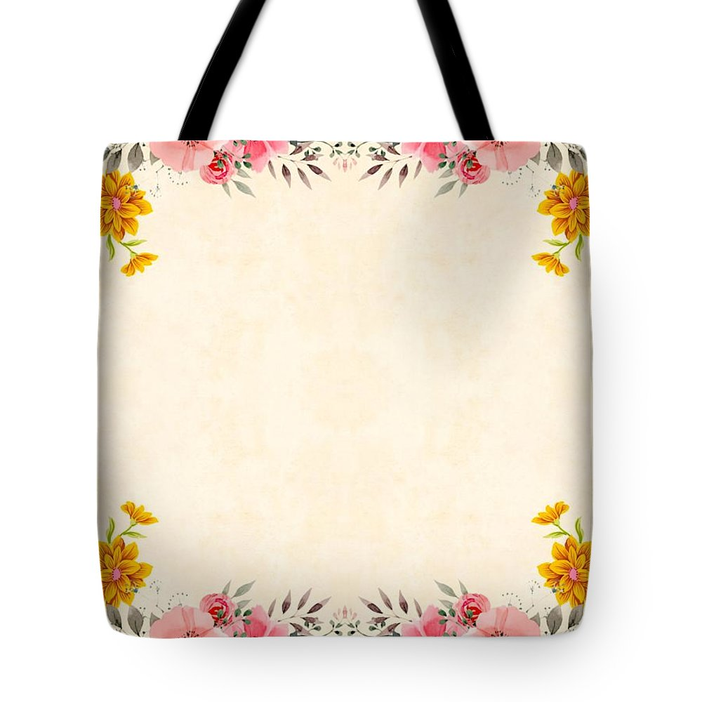 Tote Bag featuring the ceramic art Flower Print by Beena Bamania