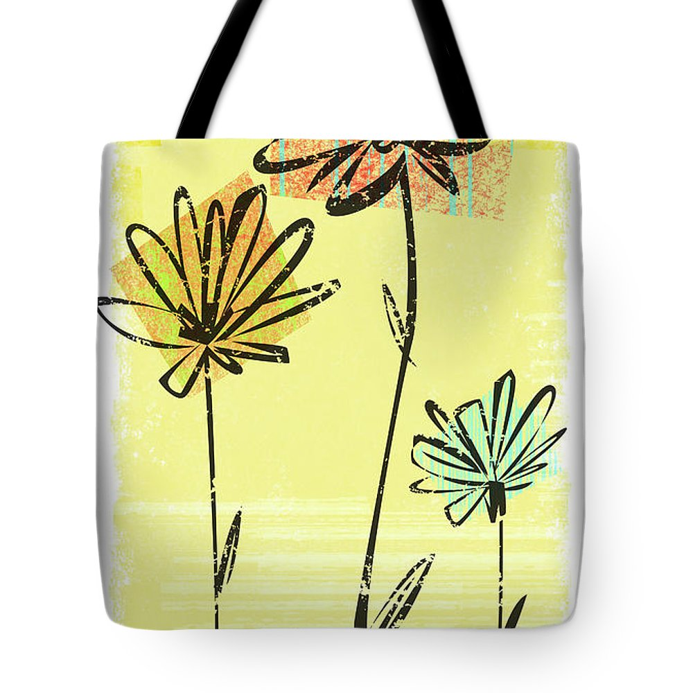 California Tote Bag featuring the digital art Flowers In Springtime by Harry Briggs