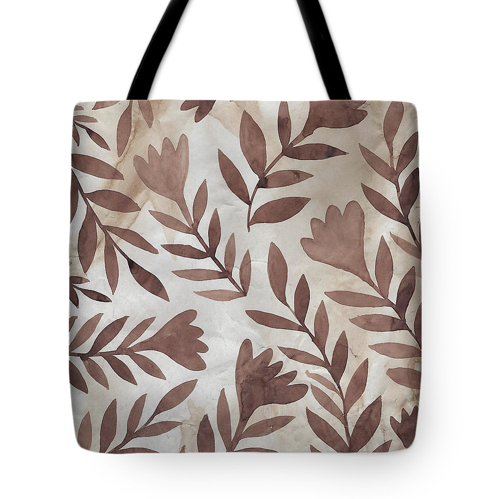 Brown Tote Bag featuring the painting Flowing Flowers by Elaine Jackson