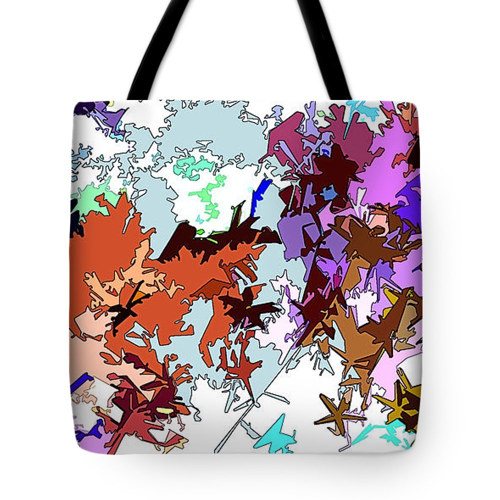 Abstract Tote Bag featuring the digital art Fluttering Vista by Linda Mears