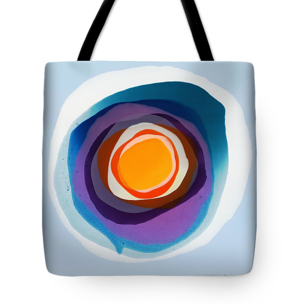 Abstract Tote Bag featuring the painting Focussed by Claire Desjardins