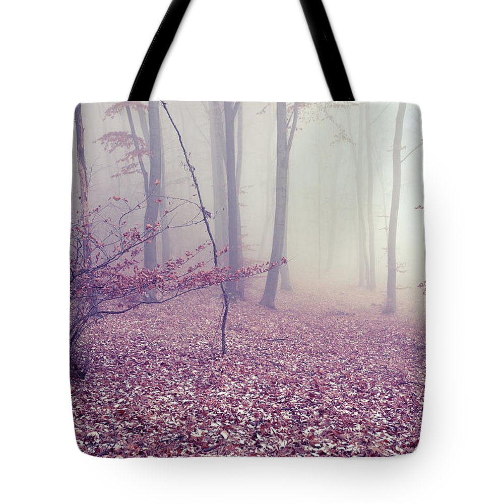 Spooky Tote Bag featuring the photograph Fog by Floriana