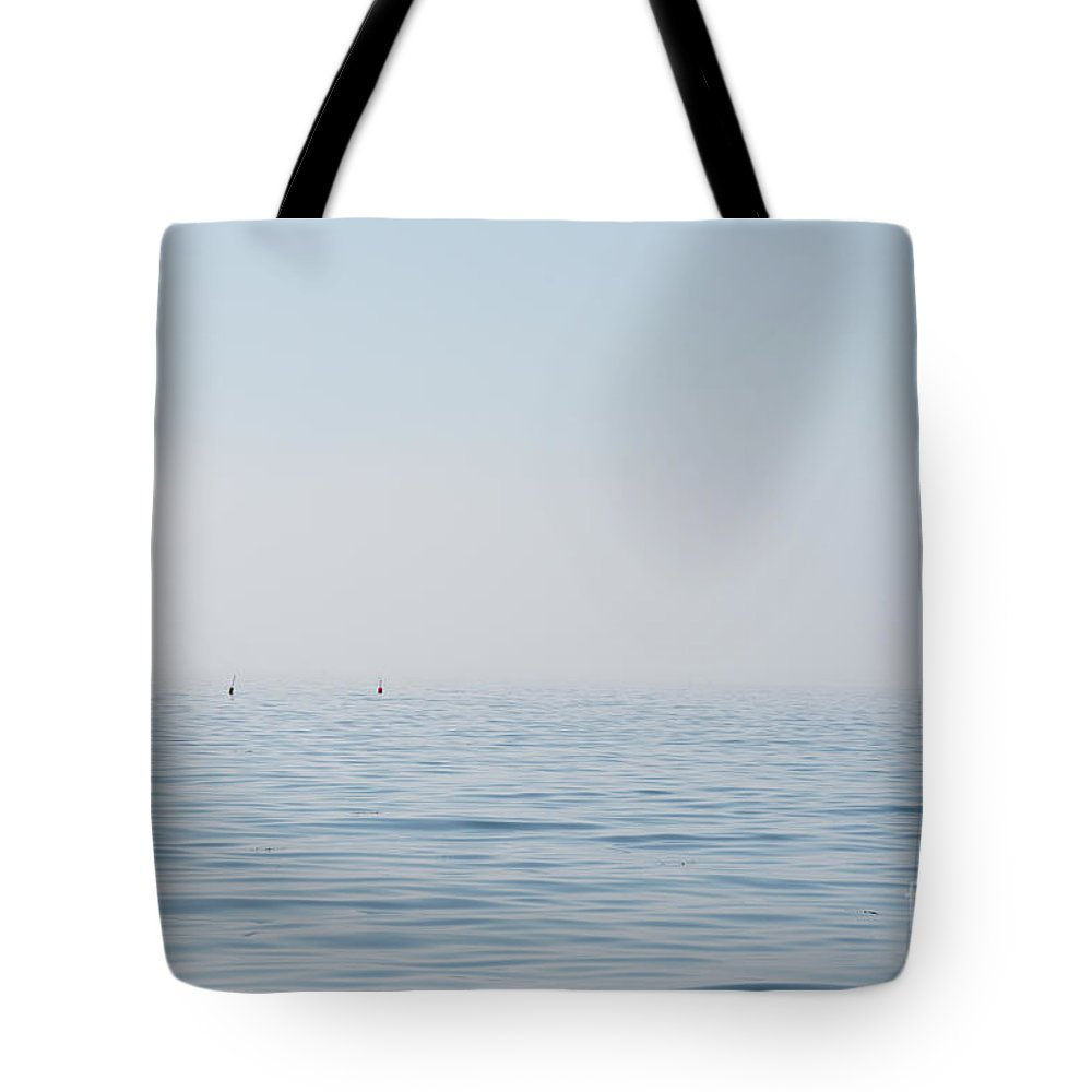 Maine Tote Bag featuring the photograph Fog Over Southern Maine by Jacqueline Temkin
