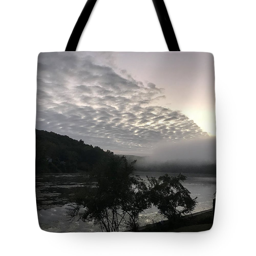 Sunrise Tote Bag featuring the photograph Fog Roll On Wataba by Tom Johnson