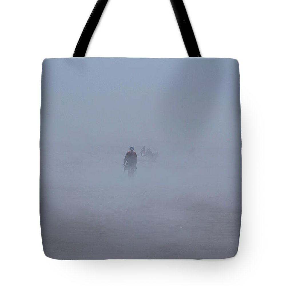 Fog Tote Bag featuring the photograph Fog Walker by Cheryl Day