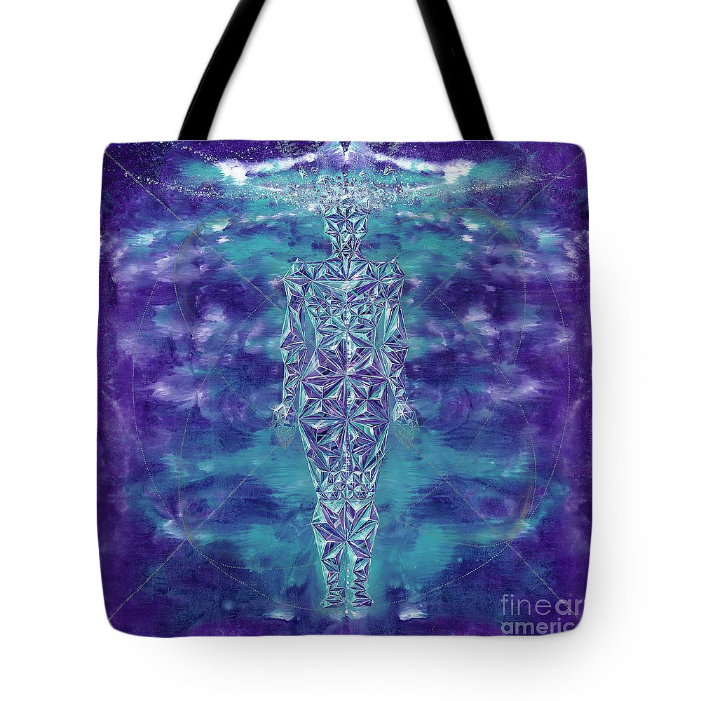 Tote Bag featuring the painting Formless by Aramis Hamer