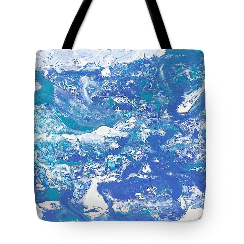 Water Tote Bag featuring the painting Formless Edition 5 by Sonye Locksmith