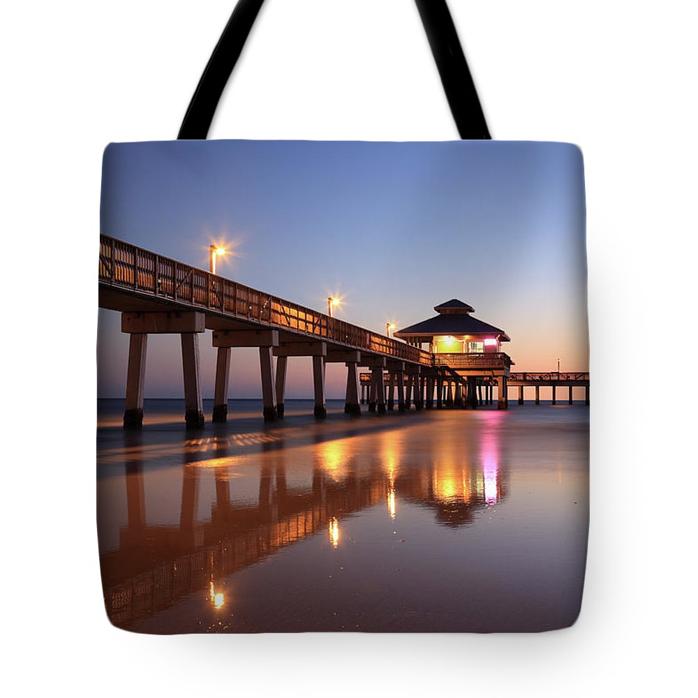 Built Structure Tote Bag featuring the photograph Fort Myers Beach, Florida by Jumper