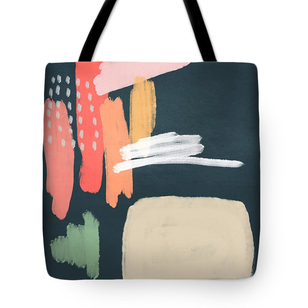 Modern Tote Bag featuring the mixed media Fragments 2- Art by Linda Woods by Linda Woods