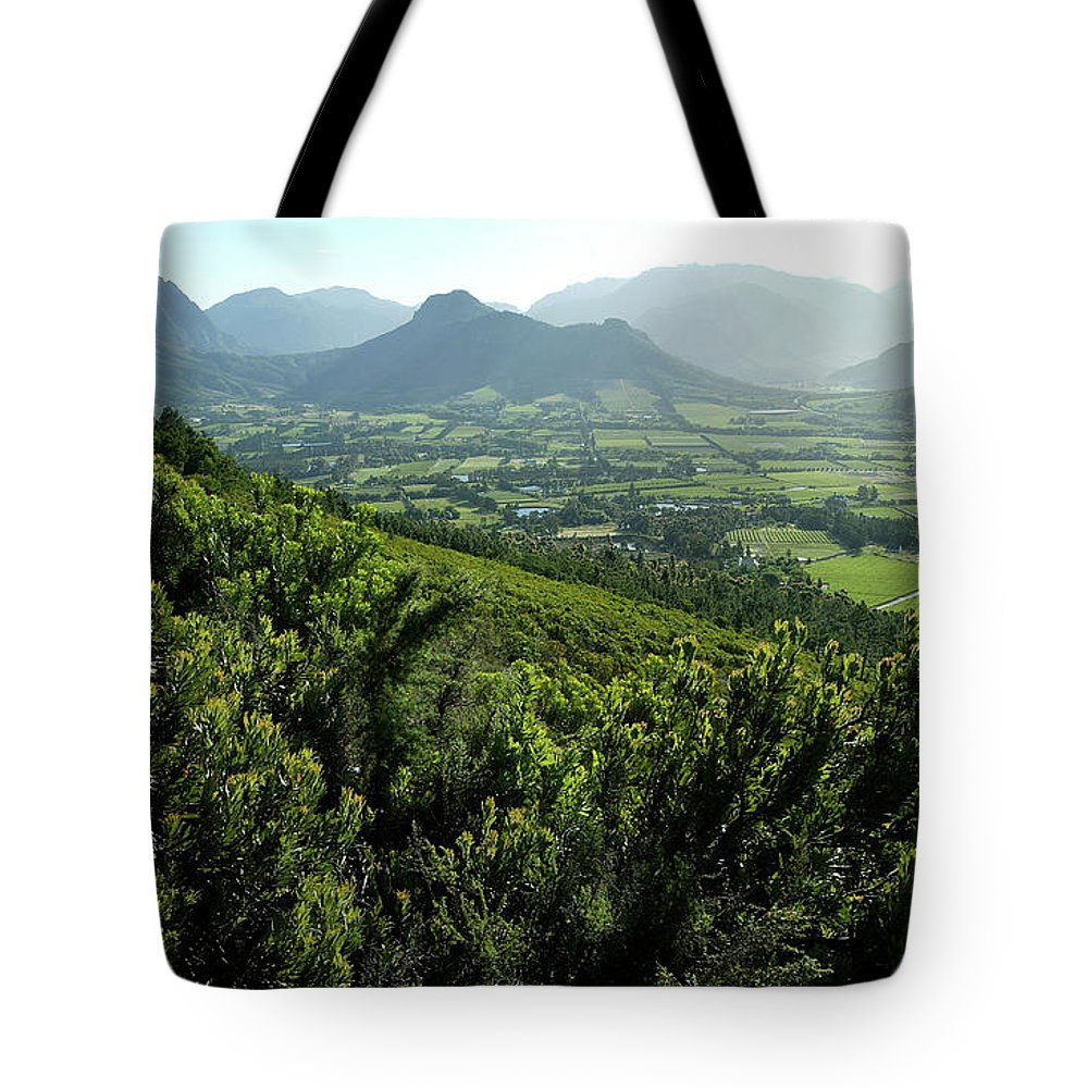 South Africa Tote Bag featuring the photograph Franschhoek Valley by Ruvanboshoff