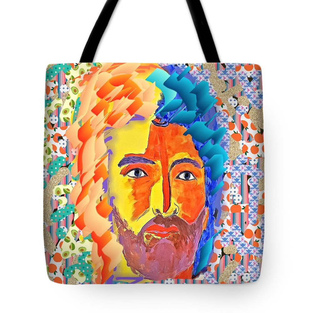 Face Tote Bag featuring the digital art Free Mind by Paola Baroni