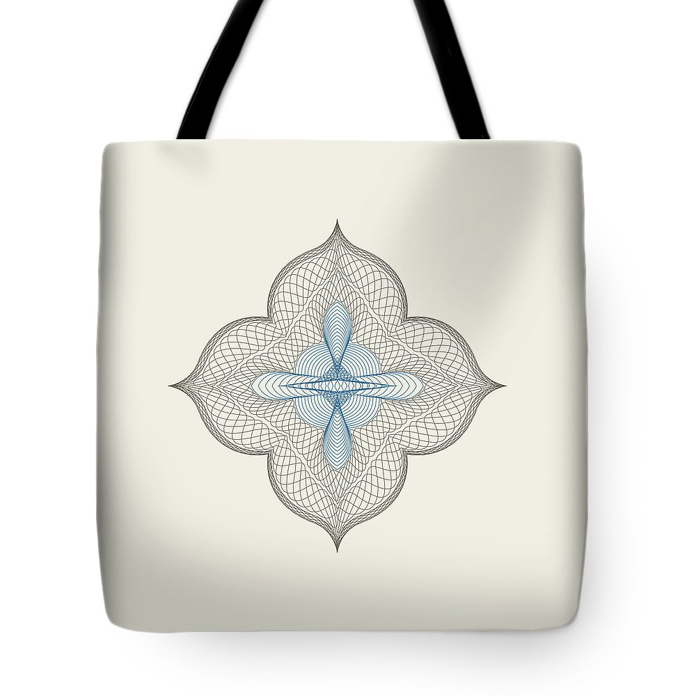 Tote Bag featuring the glass art Freehand by Beena Bamania