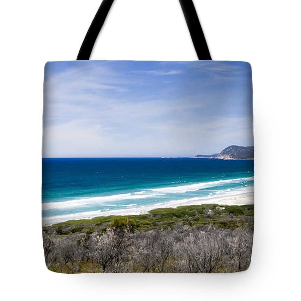 Empty Tote Bag featuring the photograph Friendly Beach by Samvaltenbergs