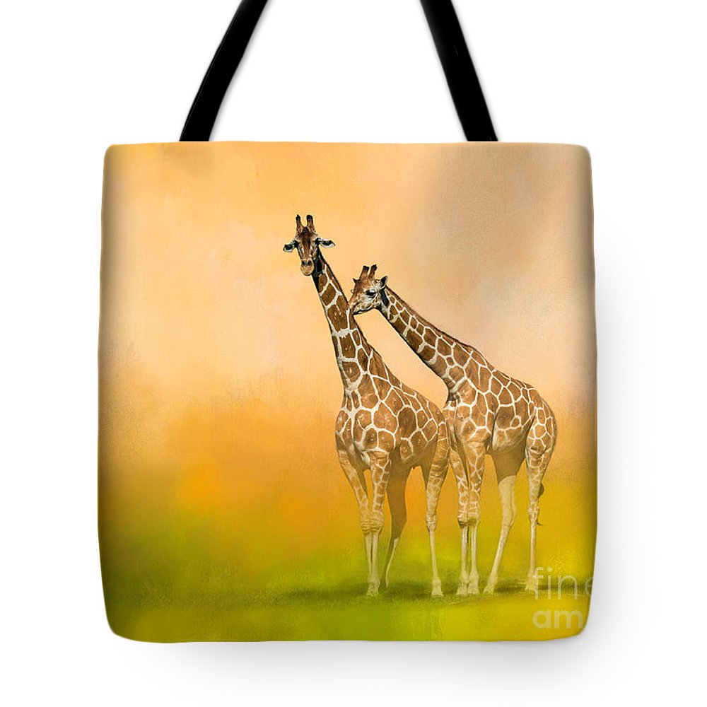 Africa Tote Bag featuring the mixed media Friends For Life by Marvin Spates