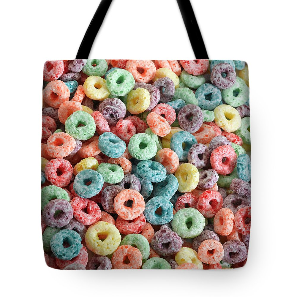 Breakfast Tote Bag featuring the photograph Fruit Cereal by Adshooter