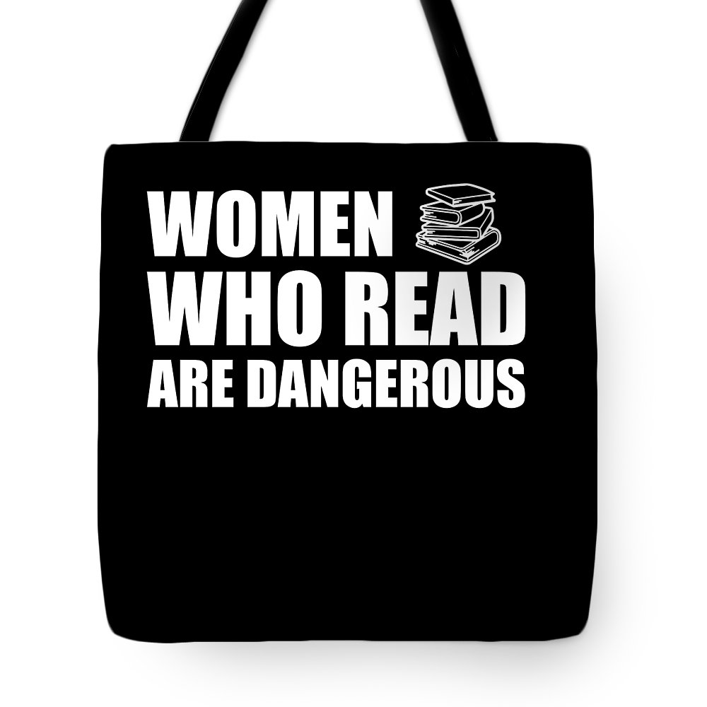 Book-gifts Tote Bag featuring the digital art Funny Book Lover Design Who Likes Books by Funny4You