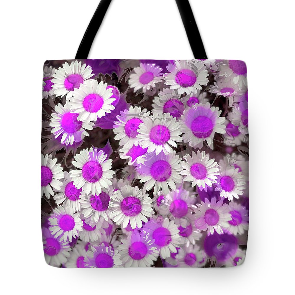 Tote Bag featuring the digital art Fuscia Girls by Cindy Greenstein
