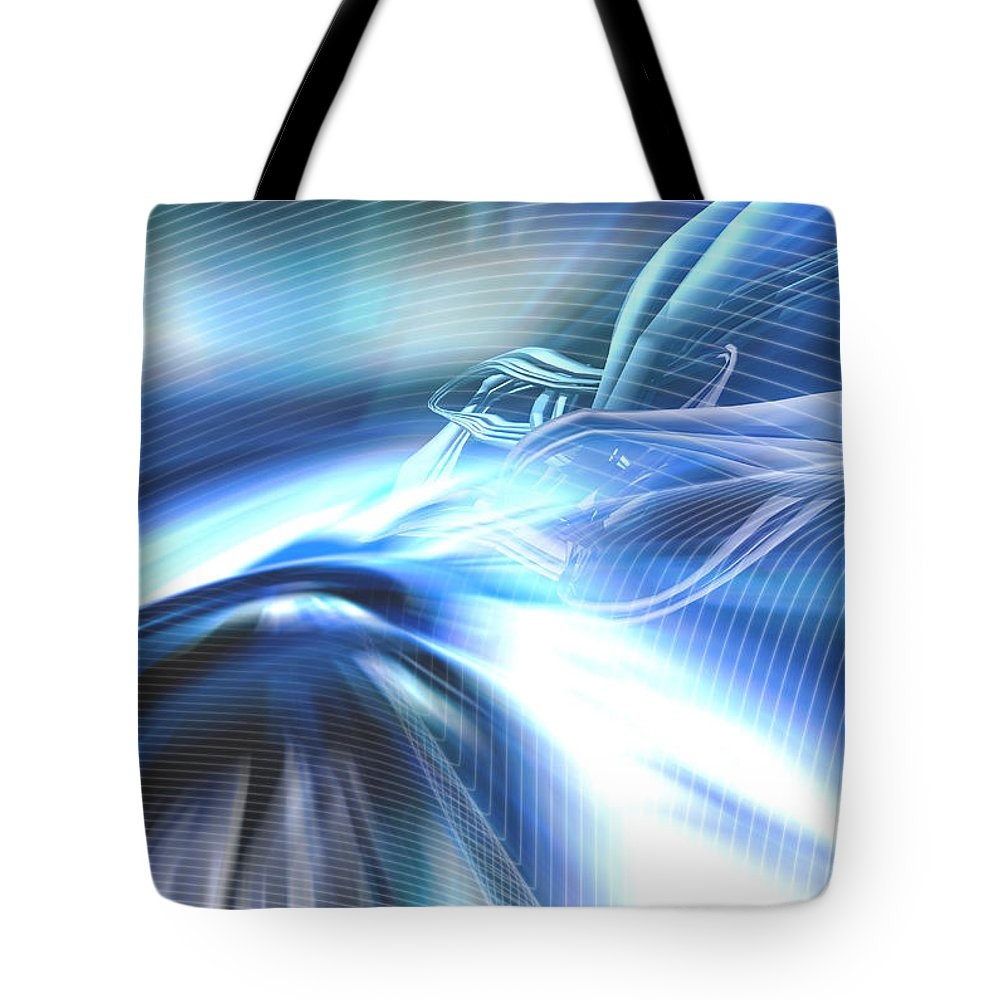 Computer Tote Bag featuring the photograph Futura01 Remix by Alwyncooper