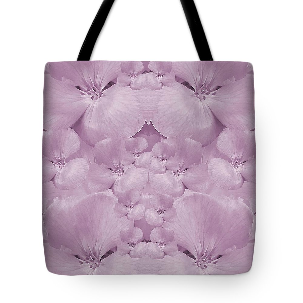 Tote Bag featuring the mixed media Garden Of Big Paradise Flowers Ornate by Pepita Selles