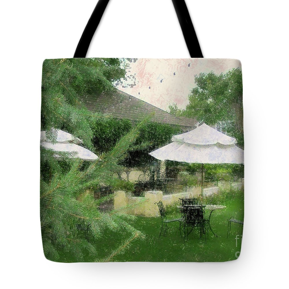 Gentility Tote Bag featuring the painting Gentility Impression by Bonnie Marie -
