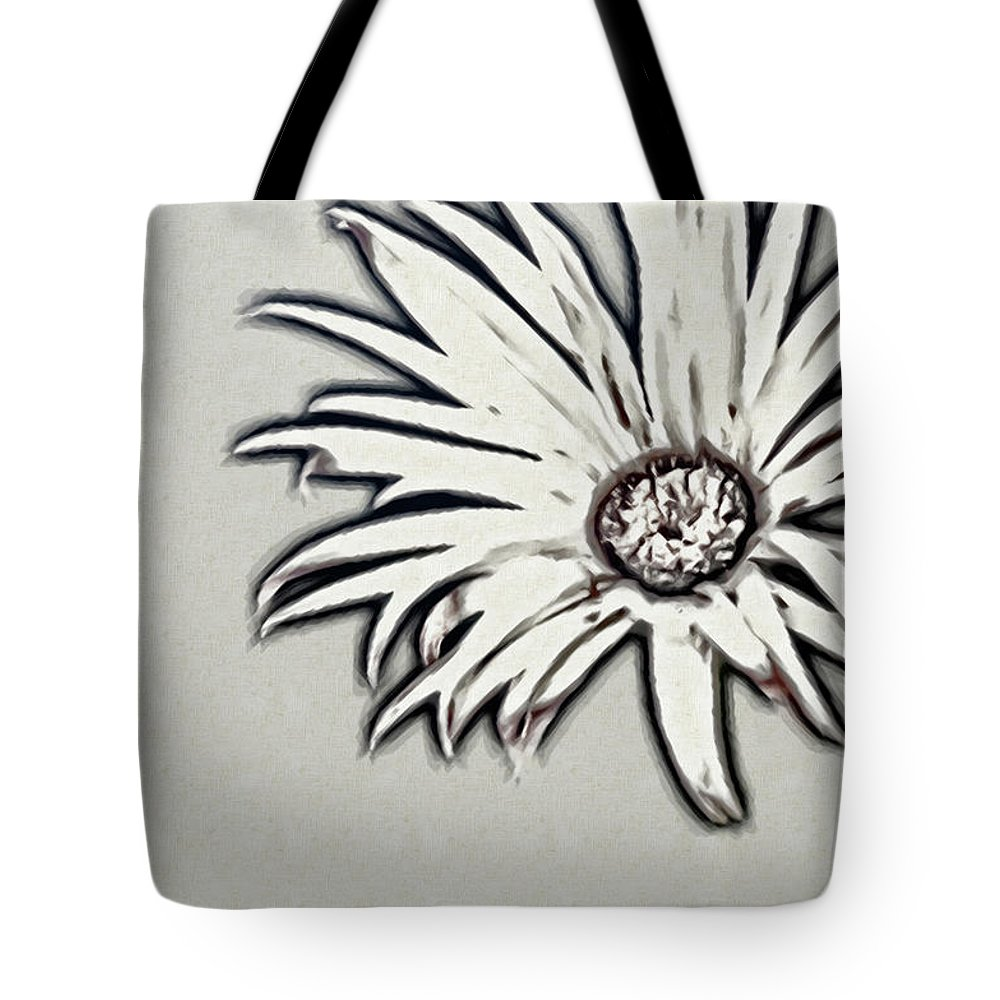 Rockville Tote Bag featuring the photograph Gerbera Flower Shape by Maria Mosolova