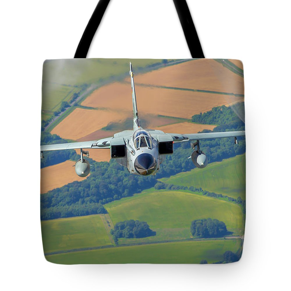 German Tote Bag featuring the photograph German Air Force, Panavia Tornado B4 by Nir Ben-Yosef