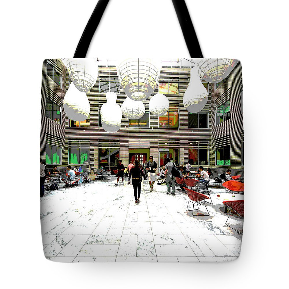 America Tote Bag featuring the mixed media Gilman Hall by Charles Shoup