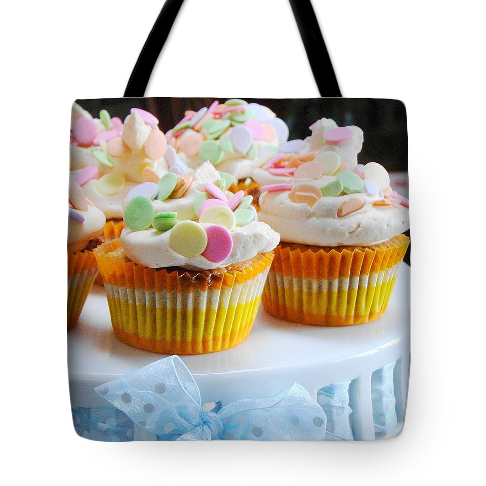 Five Objects Tote Bag featuring the photograph Ginger Mango With Polka Dots by Janet Hudson