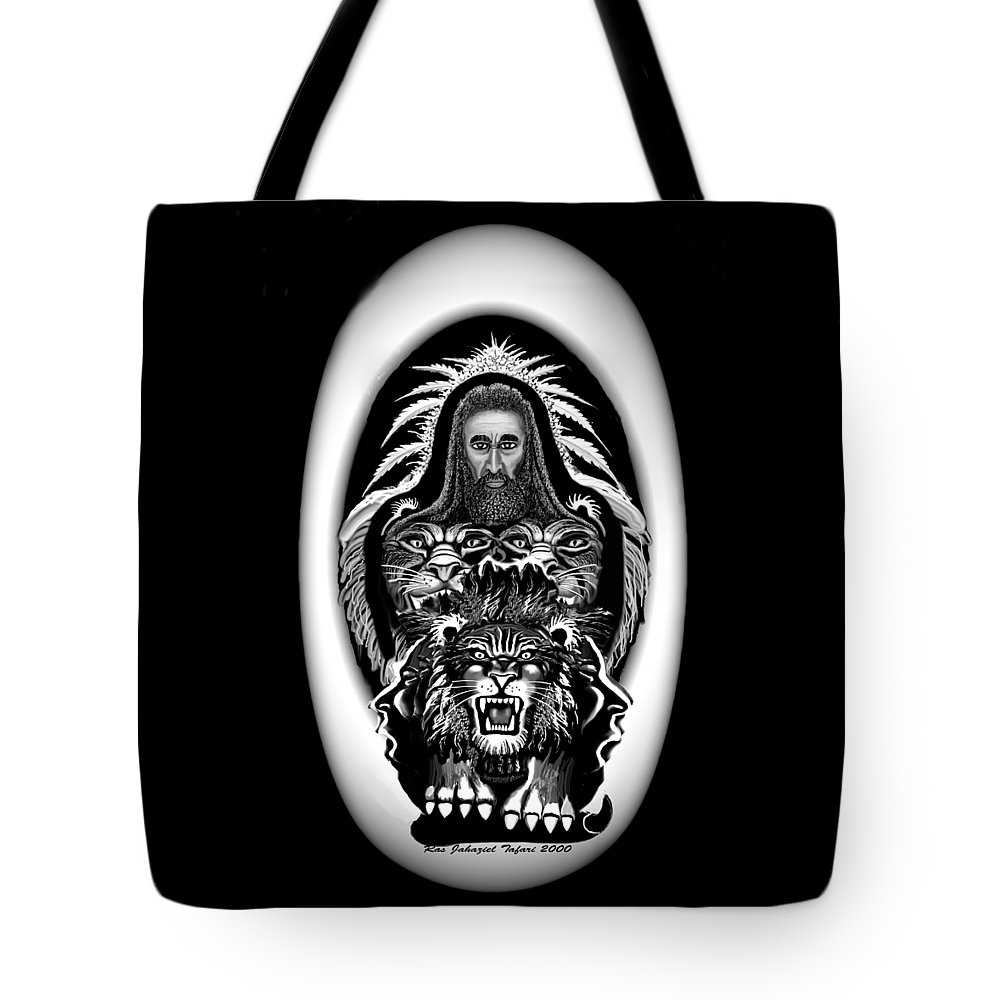 Pastel Chalk Tote Bag featuring the drawing Give Us The Truth 2 by Ras Tafari