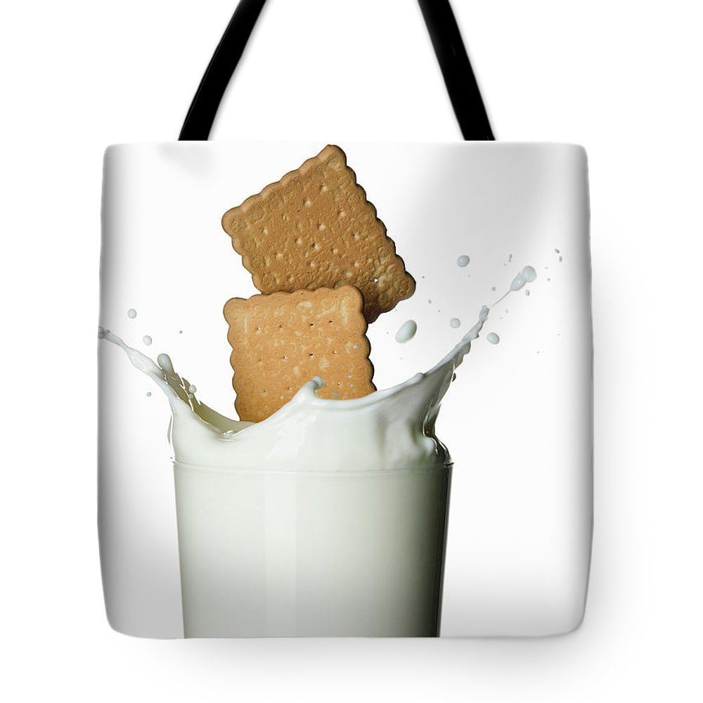 Milk Tote Bag featuring the photograph Glass Of Milk by Buena Vista Images