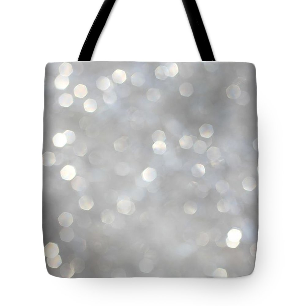 Holiday Tote Bag featuring the photograph Glittery Background by Merrymoonmary