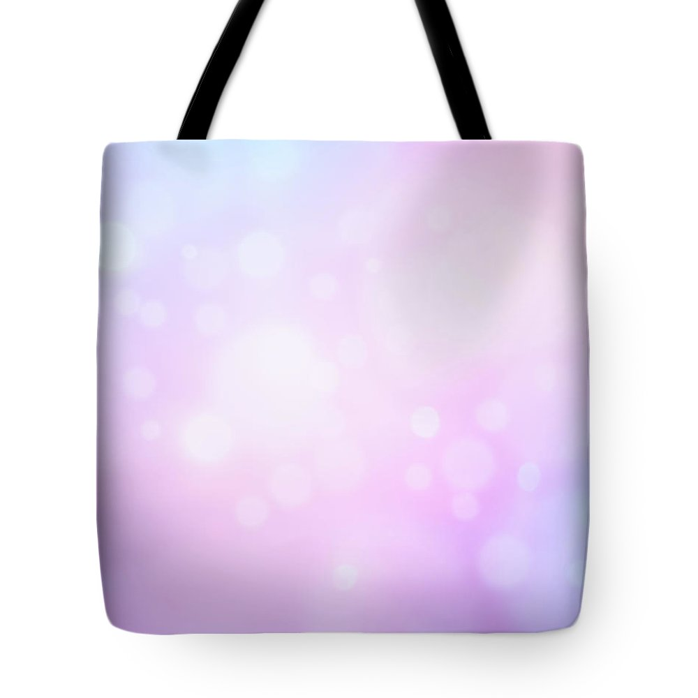 Holiday Tote Bag featuring the photograph Glowing Blue And Pink Abstract by Jeja