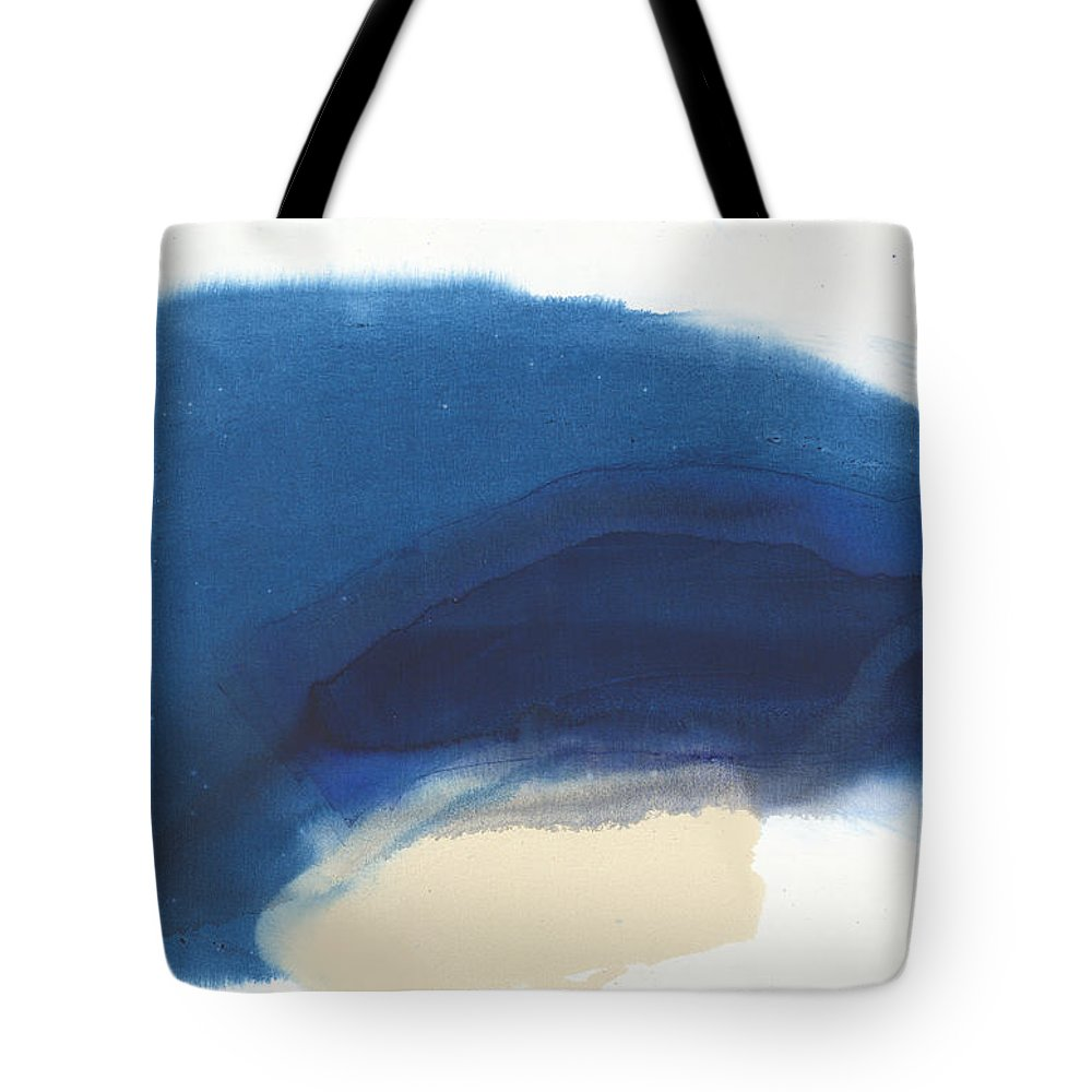 Abstract Tote Bag featuring the painting Go Easy by Claire Desjardins