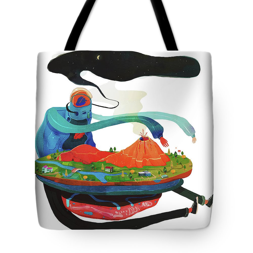 Nature Tote Bag featuring the painting god by Francisco Fonseca