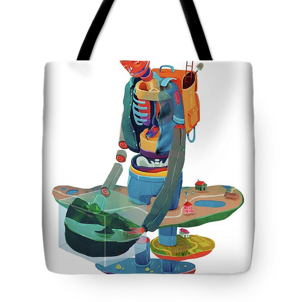 Man Tote Bag featuring the painting Godd by Francisco Fonseca