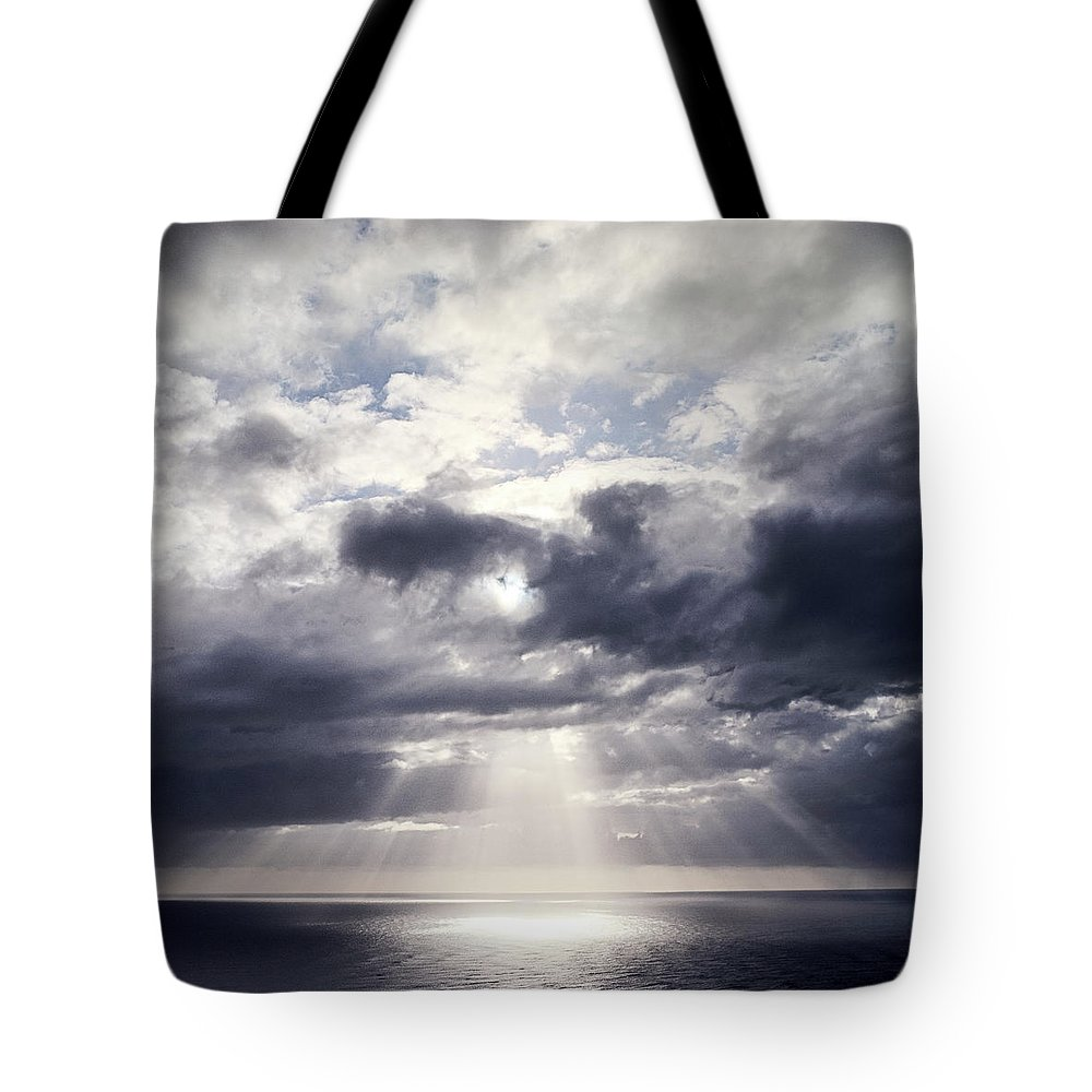 Scenics Tote Bag featuring the photograph Gods Above Us by Ioseph