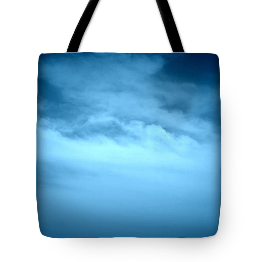 Clouds Tote Bag featuring the pastel God's Canvas-2 by Erma L George