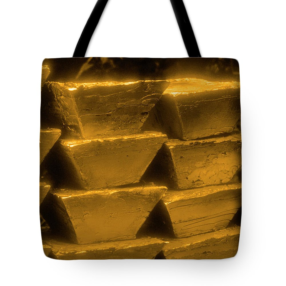 1980-1989 Tote Bag featuring the photograph Gold Bullion Bars by Lyle Leduc