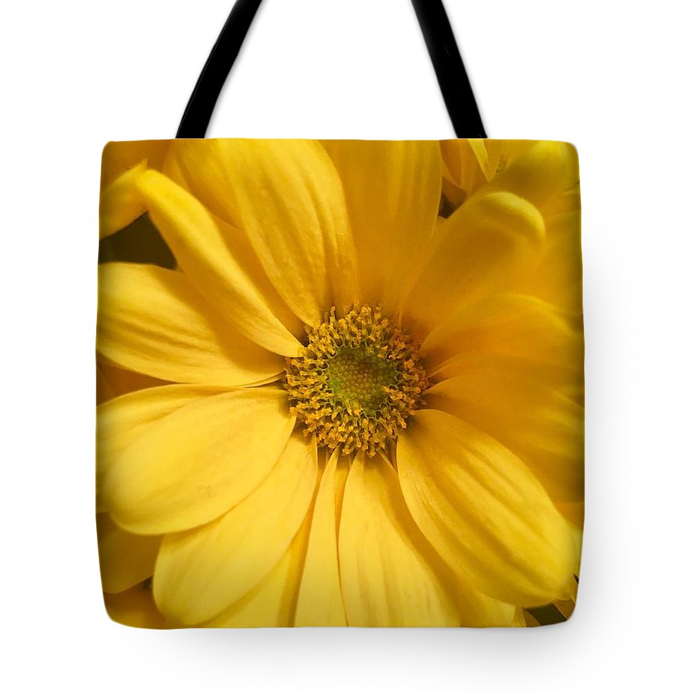 Daisy Tote Bag featuring the photograph Golden Daisy by Linda Knudsen