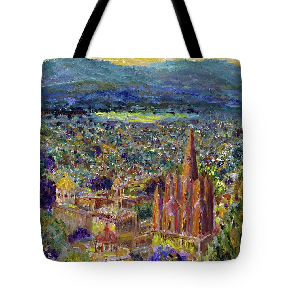 Realism Tote Bag featuring the painting Golden Hour by Andrew Osta