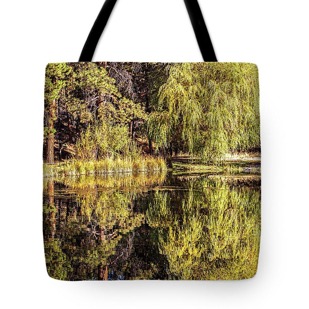 Golden Shevlin Park Tote Bag featuring the photograph Golden Shevlin Park by David Millenheft