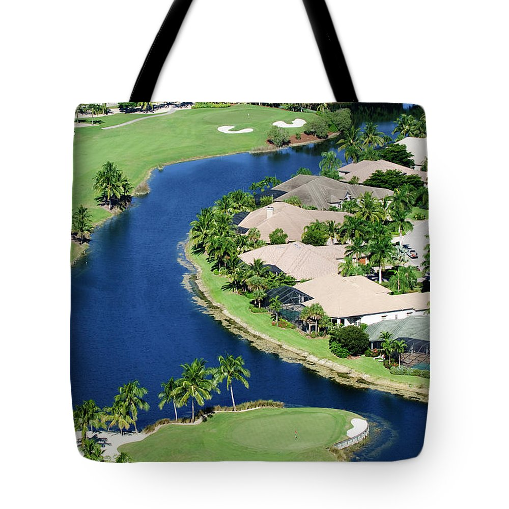 Recreational Pursuit Tote Bag featuring the photograph Golf Course Community by Negaprion