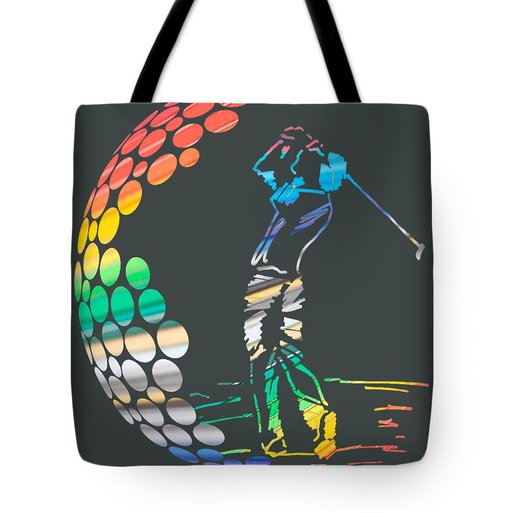 Golf Sport Surfing Cartoon Beach Girls Daving Superhero Soccer Tennis Man Enjoy Amazing Cool Snopy Tote Bag featuring the digital art Golf by Tri Winarto