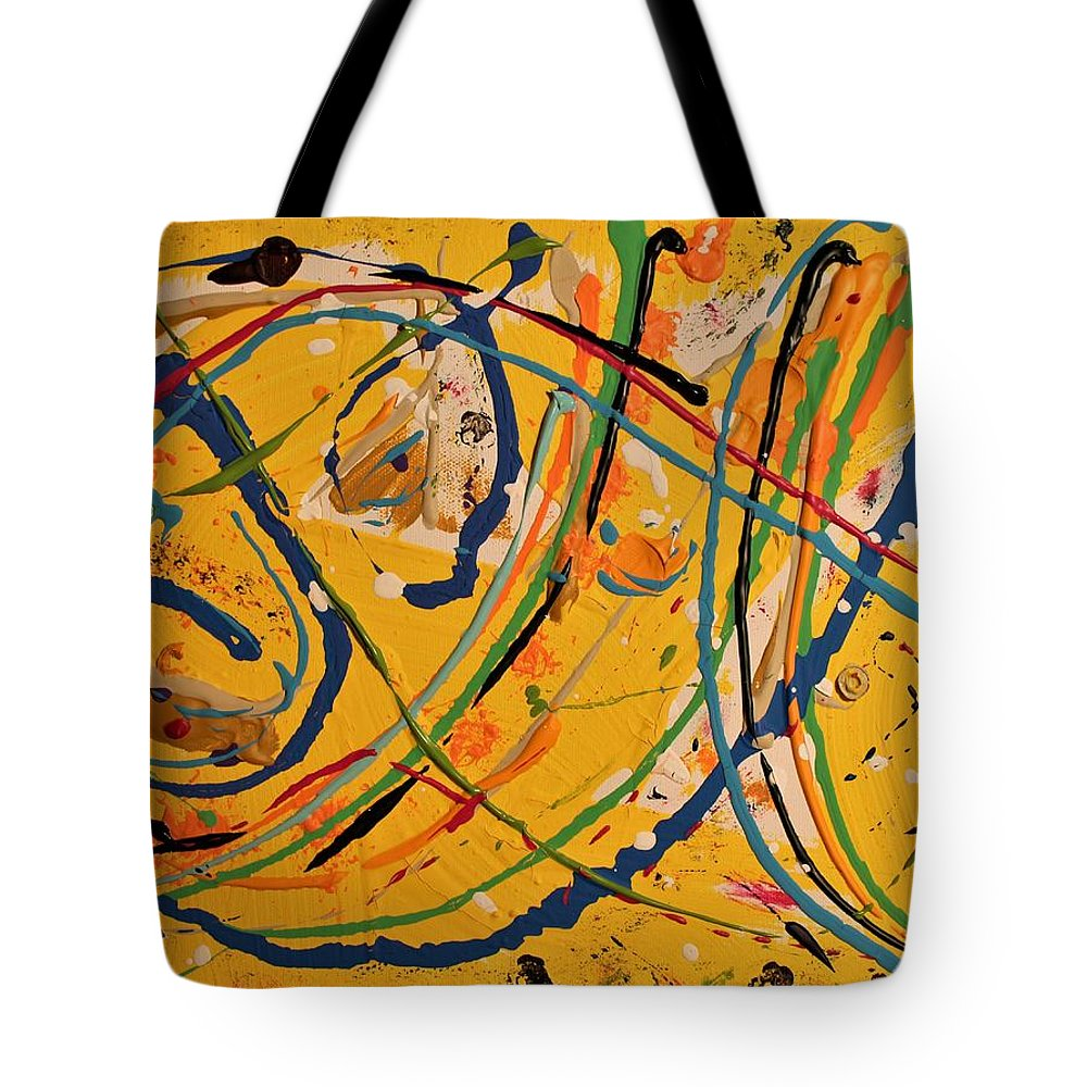 Colorado Tote Bag featuring the painting Gone Fishing by Pam Roth O'Mara