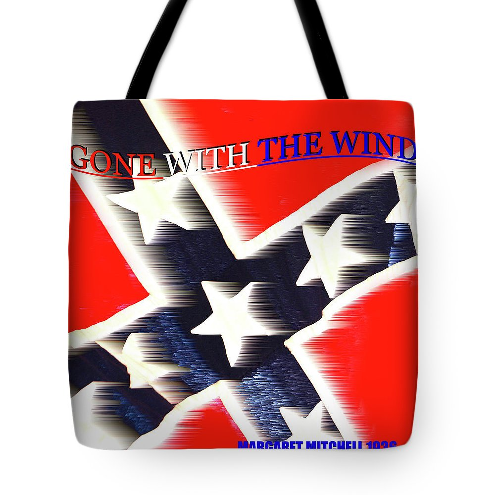 Gone With The Wind By Margaret Mitchell Tote Bag featuring the mixed media Gone With The Wind Minimalism Book Cover Art by David Lee Thompson