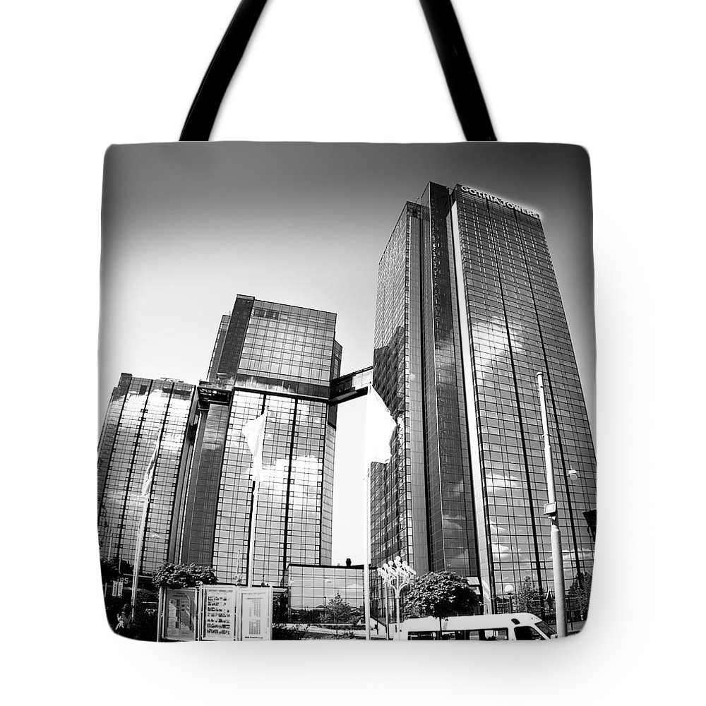 Gothia Tower Tote Bag featuring the photograph Gothia Tower In Gothenburg by Carin Sigeskog