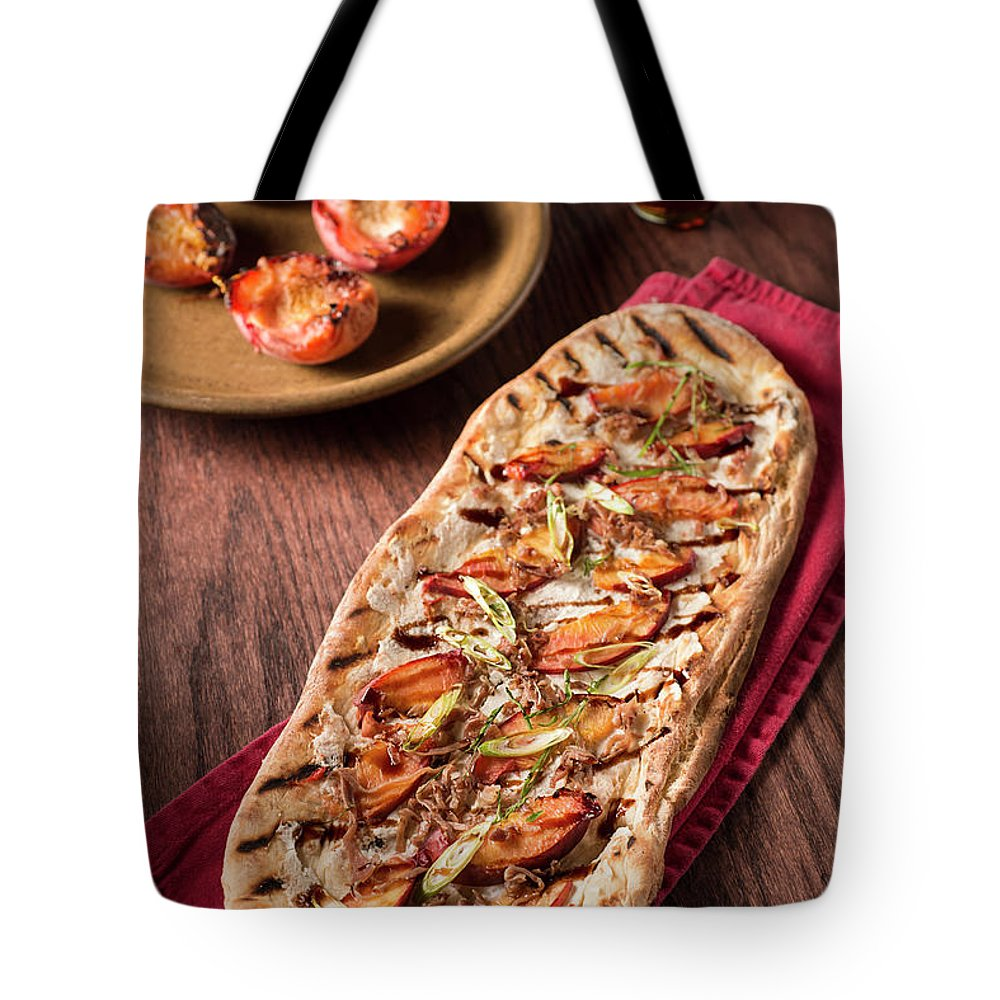 Cheese Tote Bag featuring the photograph Gourmet Pizza by Rudisill